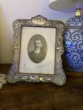 More details for large antique sterling silver photo / picture frame. free postage.