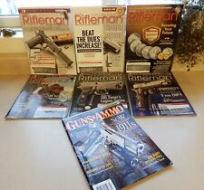 6 AMERICAN RIFLEMAN MAGAZINES  All 2016 & 1 Issue of GUNS & AMMO 2011