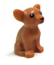 LEGO CHIHUAHUA DOG Pet Shop Animal Medium Dark Flesh Brown Friends Minifigure