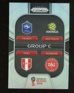 2018 Panini Prizm World Cup Group C France Australia Peru Denmark Silver PRIZMS