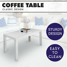 White Modern Coffee Table TV Stand Play Table Furniture - 99cm x 48cm x 45cm