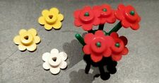 LEGO Pieces:  1 Plant Flower Stem (3741) with 5 red 2 yellow 1 white flowers