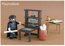 IMPRENTA MINIATURE PRINTING PRESS presse d'imprimerie FIGURA PLAYMOBIL NO INCL.