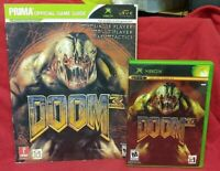 DOOM 3 + Strategy Guide Org Microsoft Xbox Game Complete 1 Owner Near Mint Disc