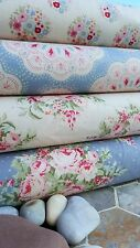TILDA Sweet Heart Fabric 4PS FQ Quilting Crafts ROSE FIORI BLU E ROSSA COLOMBA BIANCO