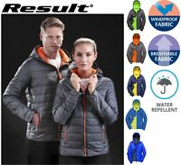 Mens PUFFER Jacket Windproof Showerproof Hooded Lightweight All Seasons WARMTH