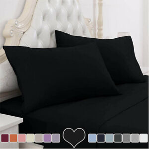 Extra Deep Elastic Fitted Sheet Bed Sheets For Mattress Double Queen King Size