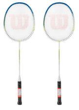 Wilson FORCE 9000 Badminton Racket Blue White 2 Racquets String Full Cover