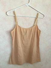 Women's Mustard 60% cotton, 35% polyester, 5% spandex Scoop neck Cami Size L