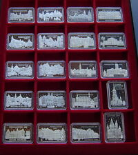 """Silbersammlung 23 Barren  """" Weihnachten """" - je. 17g. von 1986 bis 2006"""