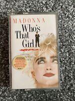 MADONNA WHO'S THAT GIRL ORIGINAL MOTION PICTURE SOUNDTRACK CASSETTE TAPE ALBUM