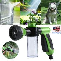 High-Pressure Sprayer Nozzle Hose Gun Car Pet Wash Clean Water Foam Soap 8 Spray