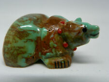Zuni Turquoise Bear Fetish by Claudia Peina Signed