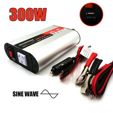 Power Inverter 12V-240V 300W(600 Max) Pure Sine Wave Camping Boat Caravan USB