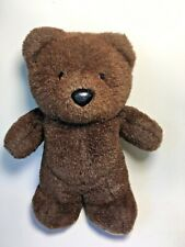 "Hallmark Brown Teddy Bear Black Nose Vintage 1988 Heartline Plush 10"" - Korea"