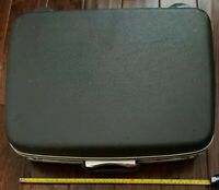 Vintage Samsonite Hard Shell Dark Gray Retro Suitcase Luggage 20""