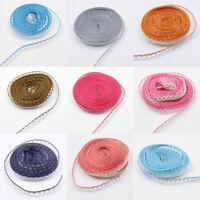 10 Yds White Cotton Lace Edge Trim Wedding Bridal Ribbon Applique Crochet Sewing
