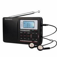Retekess V111 Portable AM FM Shortwave Radio Alarm Clock With Sleep Timer(Black)