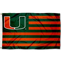 University of Miami Hurricanes Flag for Alumni Nation