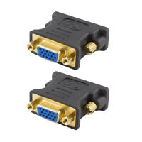 2x DVI 24+5 Male to VGA Female Converter DVI i to VGA Adapter Gold plated