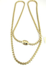 Fossil BRAND Authentic Jewelry Iconic Goldtone Keyhole Link Chain Necklace