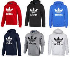 Mens Adidas Originals Trefoil Fleece Hoodie Hooded Sport Sweatshirt Top S-XL