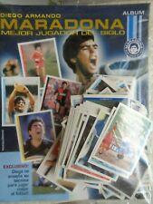 Diego Armando MARADONA entire carrer Collectors Sticker album Complete Argentina
