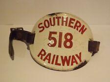 RAILWAYANA...A SOUTHERN RAILWAY PORTERS ARM ENAMEL ARM BAND No 518..COMPLETE
