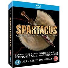 """SPARTACUS COMPLETE COLLECTION ALL 4 SEREIS BOX SET 14 DISC BLU-RAY RB AUS """"NEW"""""""
