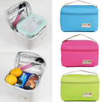 Portable Insulated Thermal Cooler School Offic Lunch Box Tote Picnic Storage Bag