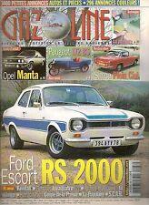 GAZOLINE 88 FORD ESCORT RS 2000 OPEL MANTA SIMCA PLEIN CIEL PEUGEOT 172 BS 1924
