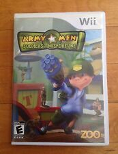 Wii Army Men: Soldiers of Misfortune ZOO (Nintendo Wii, 2008 Complete with Guide