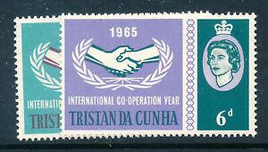 TRISTAN DA CUNHA 1965 INTERNATIONAL CO-OPERATION YEAR SG87/88  MNH