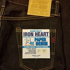 Iron Heart 14oz 666-PD Paper Denim Japanese Selvedge sz 32 VERY RARE NWT
