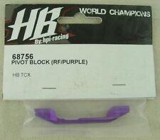 Hot Bodies TCX 1/10 Touring Car Purple Aluminum Rear/Inner Pivot Block HBS68756