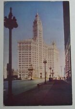 1949 PHOTO POSTCARD THE WRIGLEY BUILDING NORTH END OF BRIDGE  CHICAGO ILLINOIS