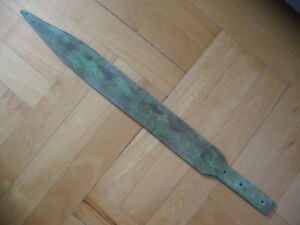 BRONZE AGE LONG SWORD ANCIENT ILLYRIANS BRONZE WEAPON 1200-900 BC. 54 cm