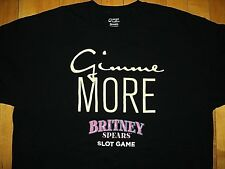 BRITNEY SPEARS Gimme More Aristocrat Slot Game NEW T Shirt L Authentic