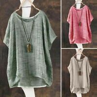 Womens Tops  Oversized Casual  Linen  Tee  Solid  V Neck Ladies Casual