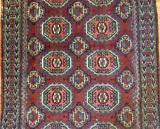 Tremendous Tekke Gul - 1920s Antique Persian Turkmen - Yamout Rug 4.3 x 6.6 ft.