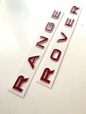 3D Rosso & Cromo Cofano Baule Lettere Emblema per Range Rover Sport 2005 - 2009
