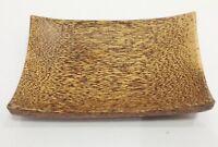 Handicraft Natural Sugar Palm Tree Wood Food Candy Plate Jewelry Dish Home Decor