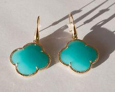 Mode-Ohrschmuck aus Glas mit Türkis-Hauptstein für Damen