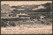 Lazio. FRASCATI. Stazione ferroviaria. Cartolina viaggiata nel 1900.