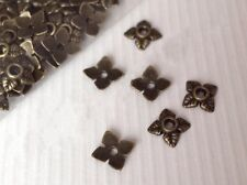 NEW 300Pcs Antiqued Silver Gold Bronze Tone Tiny-Leaf End Bead Caps 6mm