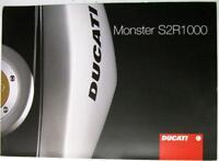 DUCATI MONSTER S2R1000 c2006 Art.917 1 165 1A Original Motorcycle Sales Brochure