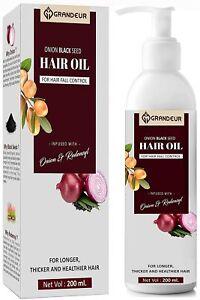 Grandeur Onion Black Seed Hair Oil For Hair Growth with Redensyl -200 ml
