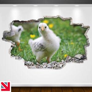 CUTE CHICKEN CHICK POSE ANIMAL Wall Sticker Decal Vinyl Art A5