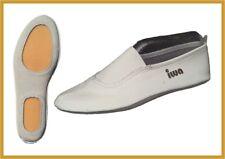 IWA Gymnastikschuh, Turnschuh, Schläppchen, Mod 190 weiß / schwarz - Leder