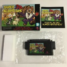 AUTHENTIC Super Noah's Ark 3D Nintendo Snes CIB Complete + Bag + Styrofoam